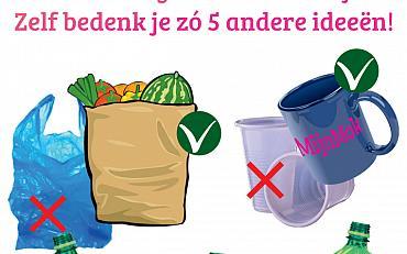 Uitdaging: minder plastic, minder afval!