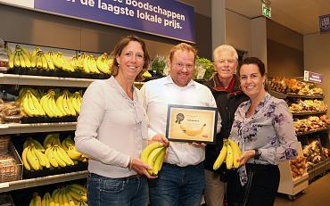 De Banana Award voor 100% fairtrade bananen!