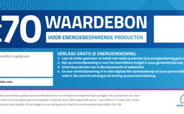 Voucheractie: € 70 om energie te besparen!